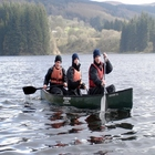 Canadian canoeing in the Brecon Beacons