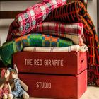 Welsh Blankets in crate